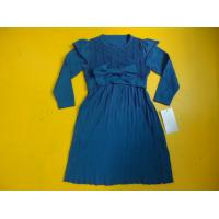 Buy cheap Cap Sleeve Girls Dress With Bow Waist Crochet , 6 Years Girls Fall And Winter Dresses product