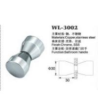 Buy cheap copper shower door knob WL-3002 chrome finished Dia.30x60mm glass door handle product