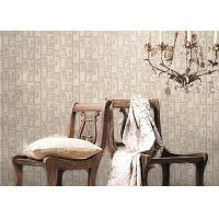 Buy cheap Removable Non-woven Vintage Style Living Room Wallpaper With Geometric Pattern,Anti-static product