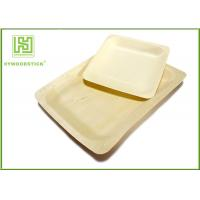 Buy cheap 10'' Thanksgiving Holiday Disposable Bamboo Plates Natural Barbecue / Sandwich Tray For Picnic from wholesalers
