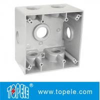 Buy cheap Powder Coated 3 Holes Two Gang Weatherproof Electrical Boxes product