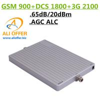 Buy cheap 65dB High Gain 900 1800 2100 MHz Tri-Band Cell Mobile Phone Signal Booster Amplifier,GSM DCS WCDMA 3G TriBand Repeater product