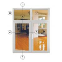 Buy cheap Large White Casement Windows Replacement / Aluminium Double Glazed Windows product