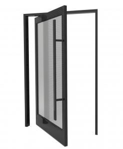 Buy cheap Black Anodized Frame Aluminum Pivot Door Horizontal Middle Turning product