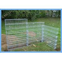 Buy cheap Heavy Galvanized Welded Gabion Baskets , Garden Rock Gabion Baskets Canal Lining product