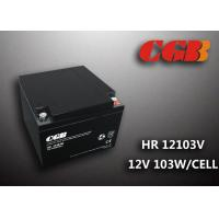 Buy cheap 12V 25AH HR12103W Rechargeable Lead Acid Battery High Rate Flame Retardant product
