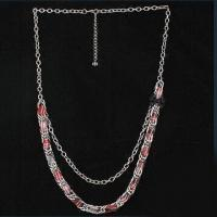 Buy cheap Fashionable Necklace, Made of Metal Chain with Fabric Flower Decoration product