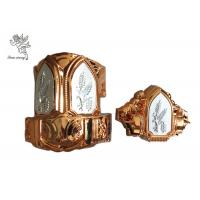 Buy cheap Brass Color  Plastc Material  Funeral Casket Corner with  Silver Wheat  Steel bar product