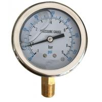 Buy cheap Iron Alloy Marine Oil Filled Marine Industrial Pressure Gauge EN837-1 YN-100 product