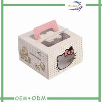 Buy cheap Wedding Candy Gift Boxes with Handle , Cake custom gift box packaging with Window product