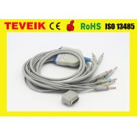 China IEC ECG cable with banana 4.0 plug integrated 10 lead wires for Kenz EKG machine wholesale