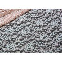 China Cotton Spandex Polyester Stretchy Lace Fabric With Mesh Knitted Flower Lace on sale