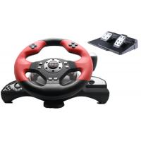 Buy cheap Wired Vibration Gaming Steering Wheel And Pedals For PC / X-Input product