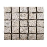 Buy cheap Yellow Natural Paving Stones Cube Custom Surface Finishing 104hsd Hardness product