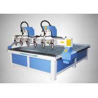 Buy cheap High Accuracy 4 Heads CNC Router Machine for MDF / Acylic / Stone / Marble product