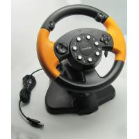 Buy cheap Wired USB Vibration PC Gaming Steering Wheel With CD-ROM Driver product
