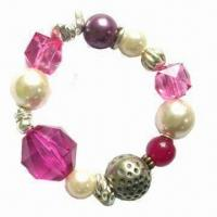 Buy cheap Handwork Bracelet, Made of Imitation Pearls and Crystal Accessories product