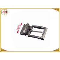 Buy cheap 30mm Metal Gunmetal Buckle For Belt With Reversible Clip Safety Plating product