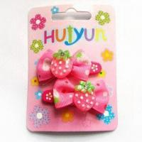 Buy cheap Hair BP Clips, Made of Metal and Ribbon, Customized Designs are Accepted, Suitable for Children product