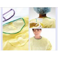 Buy cheap PP nonwoven medical gowns , green disposable isolation surgical gown for hospital product