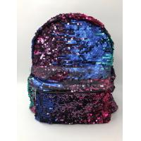 Women Polyester Laptop Bag Dazzling Sequin Backpack With Sequin Material for sale