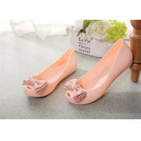 Buy cheap Plastic Resin  Summer Fashion Sandals Womens Peep Toe Flat Shoes With Bowknot product