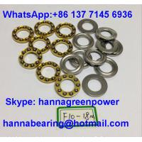 Quality F10-18M Brass Cage Miniature Thrust Ball Bearing with Groove 10x18x5.5mm for sale