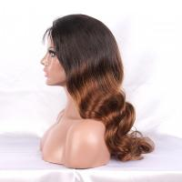 China 1B# super wave full lace wigs virgin brazilian hair with baby hair for black women on sale