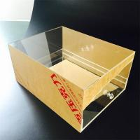 Buy cheap Custom Transparent Acrylic Shoes Box With drawer Manufacturers product