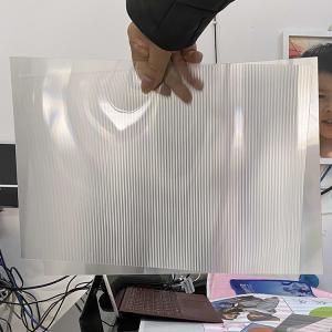 Buy cheap Super transparency lenticular sheet clear PET Lenticular 75 lpi lens sheet 3D flip lenticular lens sheet product