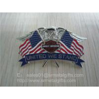 enamel paint American flag lapel pin