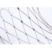 Buy cheap SS304 316 Cable Mesh Net / Steel Cable Netting Fence For Tensile Project product