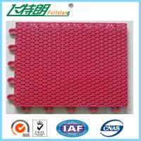 Custom PP Interlocking Rubber Floor Tiles High UV Resistant Anti Aging With Holes