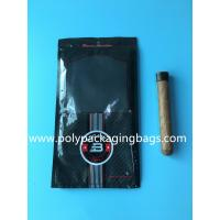 Buy cheap Custom classic black cigar bag general zipper plastic moisturizing bag with 4-6 cigars product