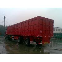 Buy cheap Construction Tri Axle High Side Dump Trailer , Semi Dump Truck Trailer For Cargo Transporter product