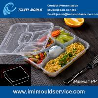 Buy cheap multi-compartment thin wall disposable food container mould, lunch box 5 compartment mold product