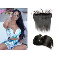 China Natural Can Be Dyed Straight Virgin Malaysian Hair Bundles With Lace Frontal wholesale