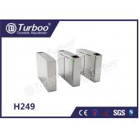 Buy cheap Waist Height Flap Barrier Turnstile / Pedestrian Turnstile Gate Access Control product