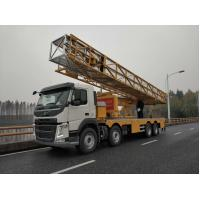 Buy cheap Yellow VOLVO Chassis Under Bridge Inspection  platform Truck   8x4 Drive Type product