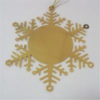China Christmas gift snowflake design photo etched bookmarks, snowflake etched page bookmarks, wholesale