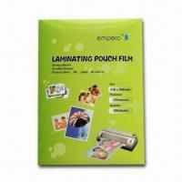 China PET Lamination Pouch Film, with Anti-static, Suitable for ID Cards and Driving Licenses on sale