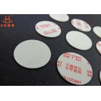 Quality Environmental Filmed Fiber Small Desiccant Packs 1.0mm Thickness , Circle Shaped for sale