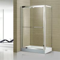Buy cheap Australian Standard Tempered Glass Sliding Door Glass Shower Enclosure with Stainless Steel Frame product