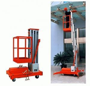 Buy cheap Single Mast aluminium work platform / Hydraulic Lift Platform with large Load capacity product