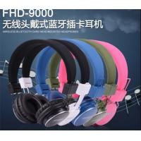 Buy cheap iPhone Bluetooth Wireless Headphones / Earpiece with TF Card , Handfree , FM Stereo Radio product