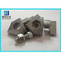 Buy cheap Single Side 45 Degree Inner Connector Aluminum Pipe Fittings Anodizing Silver AL from wholesalers