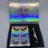 Buy cheap Natural 100 Real Mink Lashes 3 Pairs / 5d Eyelash Extensions With Private Label from wholesalers