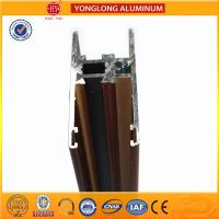 Buy cheap Flat Open Wood Finish Aluminium Profiles 6005 / 6063 For Window product