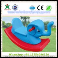 China Fun Plastic Elephant Shape Build-Up Rocking Horse Games Horse for Park Items QX-155F on sale