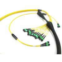 Buy cheap MPO To MPO Trunk Cable , Telecom Single Mode Fiber Optic Cable High Bandwidth 12 - 288 Fibers product